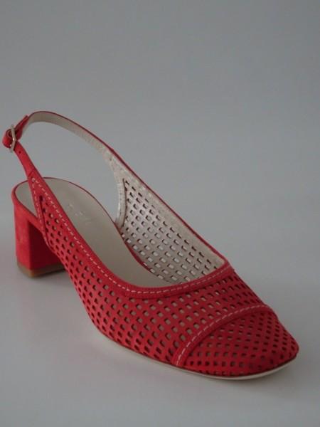 Damenschuh - nubuk rosso