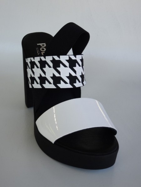 Damenschuh - nero bianco