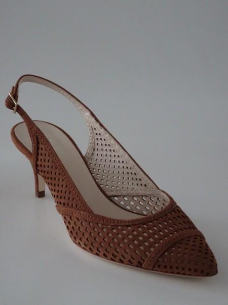 Damenschuh - nubuk marrone