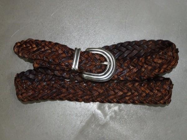 Herrengürtel - marrone intrecchiata