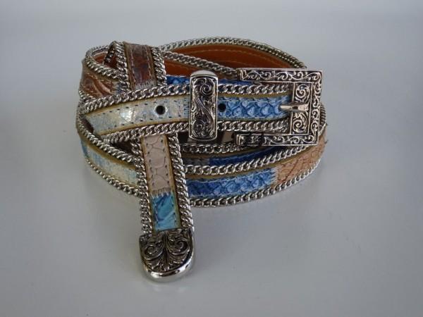 Damengürtel - blu cuoio