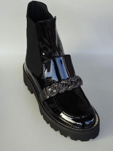 Damenschuh - vernice nero