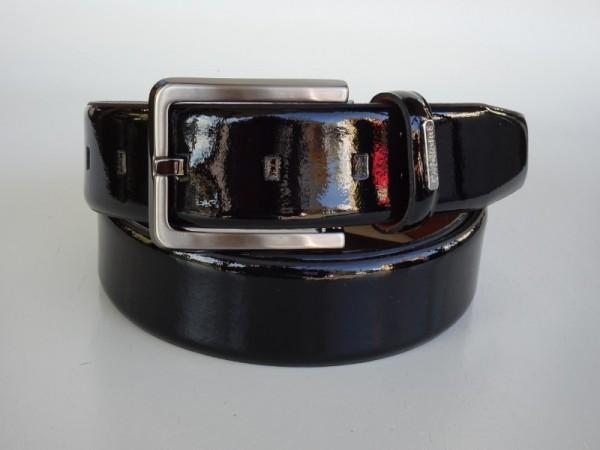 Herrengürtel - vernice nero