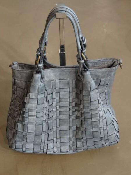 Damentasche - intrecciata grigio