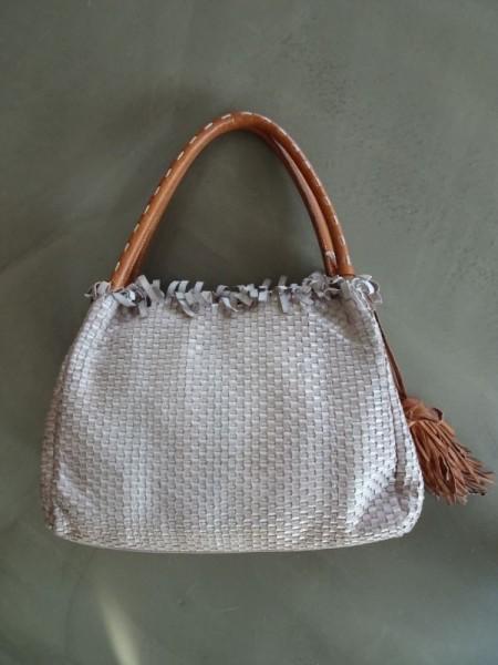 Damentasche - beluga argento