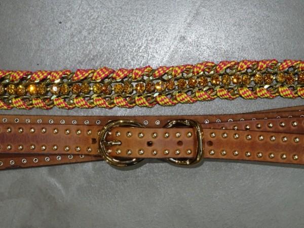 Damengürtel - marrone arancio