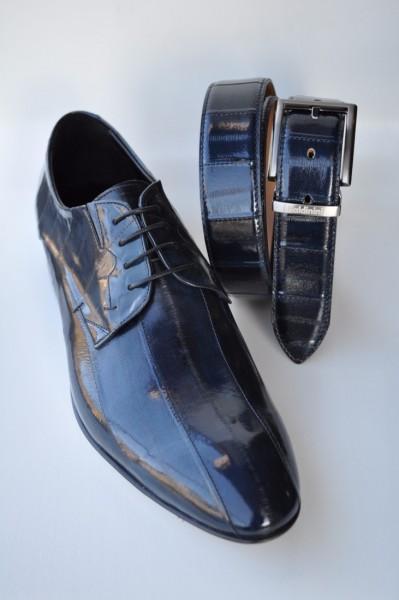 Herrenschuh - anguilla blu