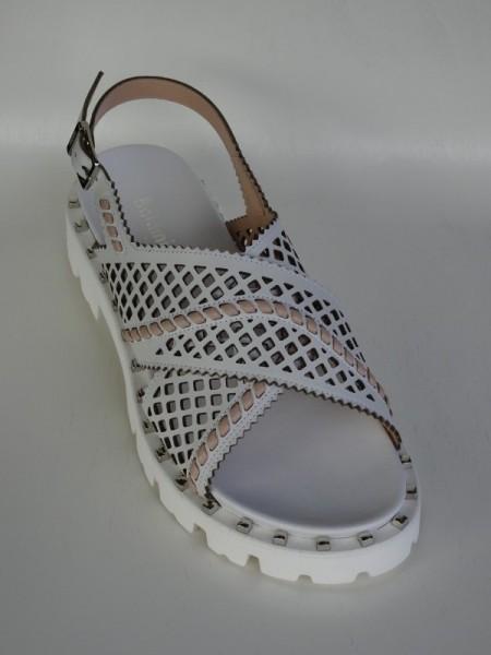 Damenschuhe - sandalo latte