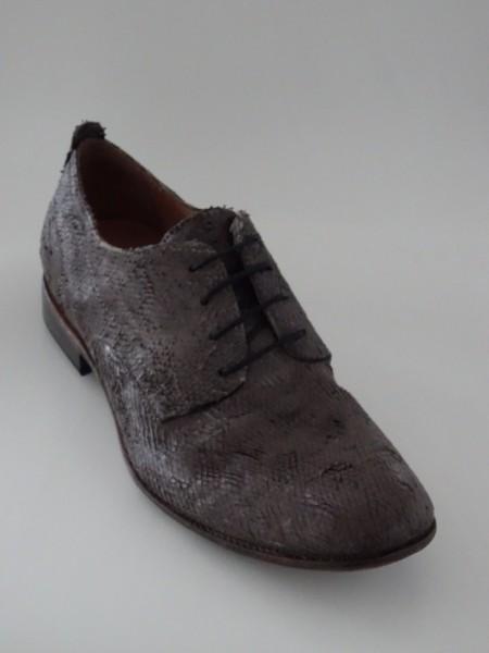 Herrenschuh - intagliato grigio