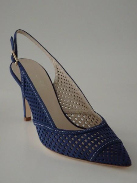 Damenschuh - nubuk blu